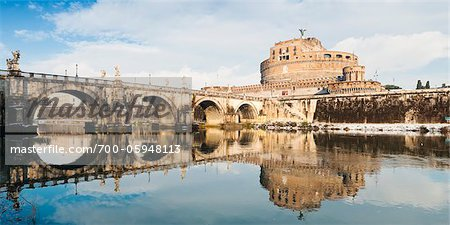Castel Sant'Angelo and Ponte Sant'Angelo in Winter, Rome, Lazio, Italy Stock Photo - Rights-Managed, Image code: 700-05948113