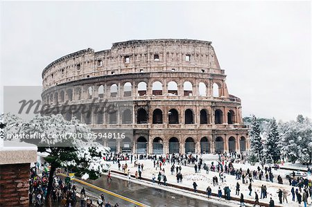 Colosseum in Winter, Rome, Lazio, Italy Stock Photo - Rights-Managed, Image code: 700-05948116