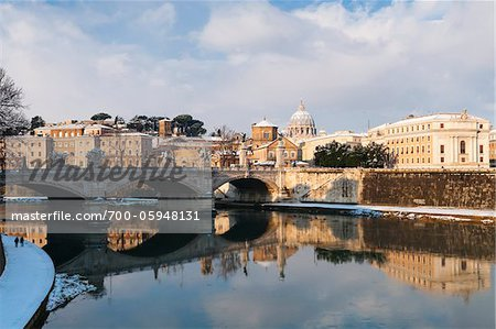 View of Tiber River, Rome, Lazio, Italy Stock Photo - Rights-Managed, Image code: 700-05948131