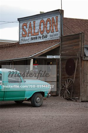 Saloon and Pickup Truck, Goldfield, Nevada, USA Stock Photo - Rights-Managed, Image code: 700-05948222