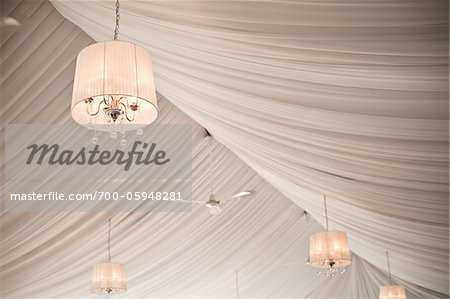 Chandeliers Hanging in Reception Hall Stock Photo - Rights-Managed, Image code: 700-05948281
