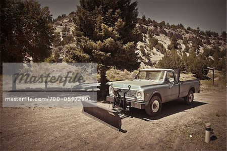 Pickup Truck with Plow, Mount Carmel Junction, Utah, USA Stock Photo - Rights-Managed, Image code: 700-05972991