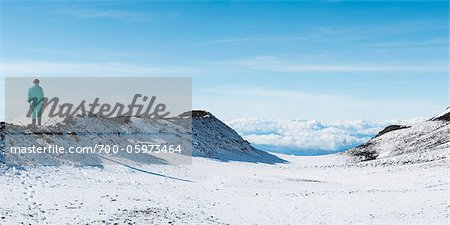 Person Standing on Snow-Covered Mount Etna, Catania, Sicily, Italy Stock Photo - Rights-Managed, Image code: 700-05973464