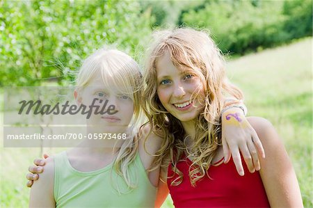 Portrait of Two Teenage Girls Stock Photo - Rights-Managed, Image code: 700-05973468