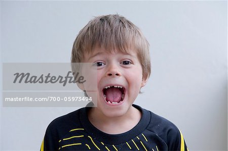 Boy with Open Mouth Stock Photo - Rights-Managed, Image code: 700-05973494