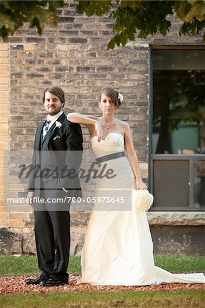 Portrait of Bride and Groom Stock Photo - Rights-Managed, Image code: 700-05973645