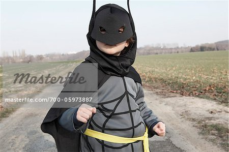 Boy Wearing Superhero Costume Stock Photo - Rights-Managed, Image code: 700-05973887
