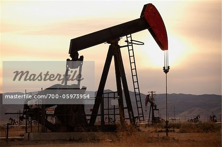 Oil Pump Jacks in Field Stock Photo - Rights-Managed, Image code: 700-05973954