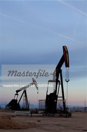 Oil Pump Jacks Stock Photo - Rights-Managed, Image code: 700-05973955