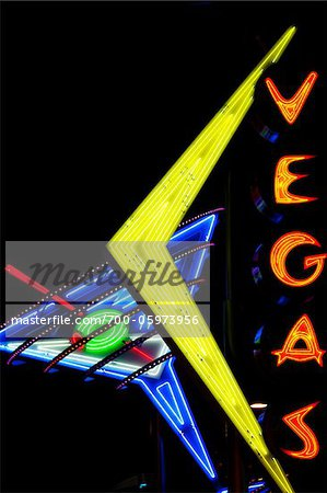 Neon Sign, Laughlin, Las Vegas, Nevada, USA Stock Photo - Rights-Managed, Image code: 700-05973956