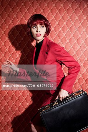 Woman with Briefcase Stock Photo - Rights-Managed, Image code: 700-05974019
