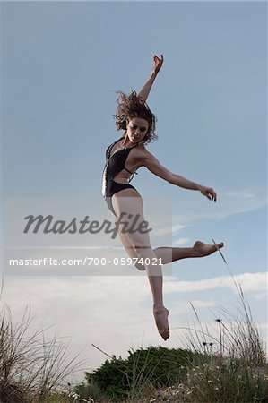 Dancer on Sand Dune Stock Photo - Rights-Managed, Image code: 700-05974021