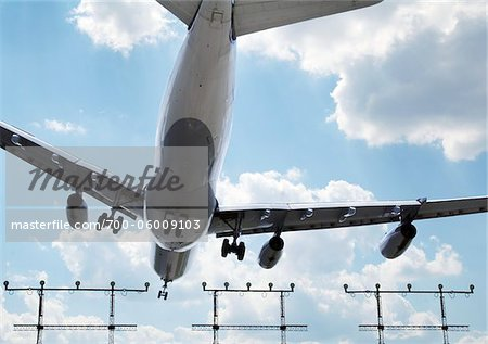 Airplane Landing at Airport Stock Photo - Rights-Managed, Image code: 700-06009103