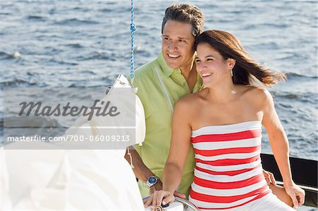 Couple on Sailboat Stock Photo - Rights-Managed, Image code: 700-06009213