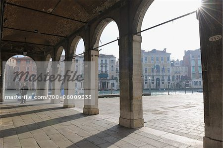 Colonnade near Canal, Venice, Veneto, Italy Stock Photo - Rights-Managed, Image code: 700-06009333