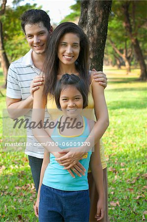Portrait of Family in Park Stock Photo - Rights-Managed, Image code: 700-06009370