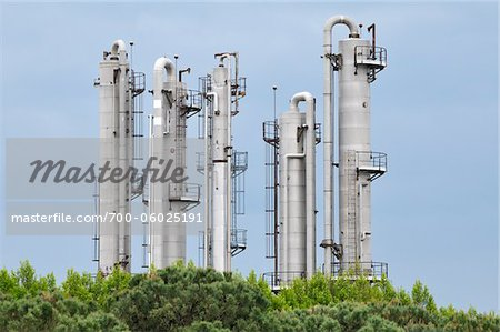 Chemical Plant, Saint-Gilles, Camargue, France Stock Photo - Rights-Managed, Image code: 700-06025191