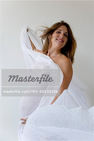 Portrait of Pregnant Woman in Studio Stock Photo - Rights-Managed, Image code: 700-06025296