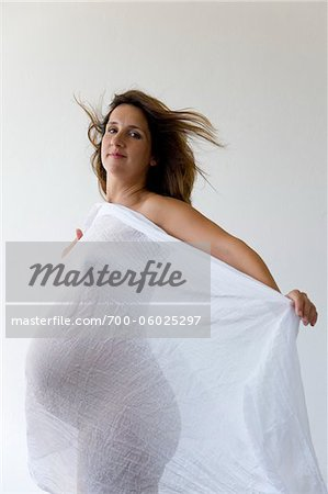 Pregnant Woman in Studio Stock Photo - Rights-Managed, Image code: 700-06025297