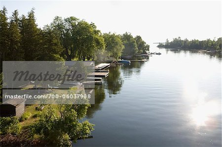 View of Trent-Severn Waterway, Bobcaygeon, Ontario, Canada Stock Photo - Rights-Managed, Image code: 700-06037908
