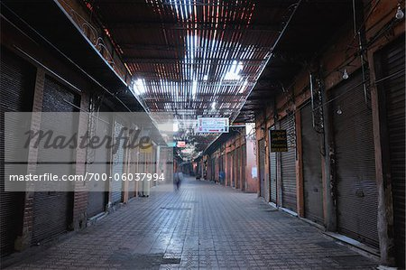 Traditional Souk in the Morning, Marrakech, Morocco Stock Photo - Rights-Managed, Image code: 700-06037994