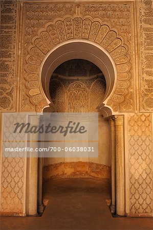 Ben Youssef Madrasa, Marrakech, Morocco Stock Photo - Rights-Managed, Image code: 700-06038031