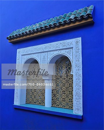Window of Blue House, Jardin Majorelle, Marrakech, Morocco Stock Photo - Rights-Managed, Image code: 700-06038051
