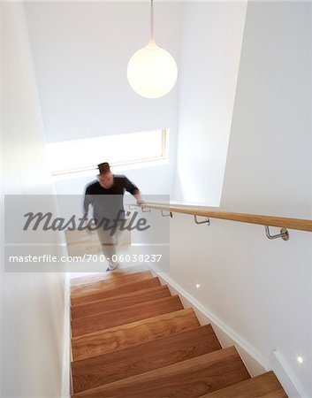 Man Walking Up Stairs Stock Photo - Rights-Managed, Image code: 700-06038237