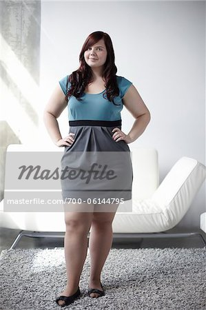 Portrait of Woman with Hands on Hips Stock Photo - Rights-Managed, Image code: 700-06144795