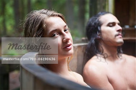 Man and Woman in Hot Springs Tub Stock Photo - Rights-Managed, Image code: 700-06190636