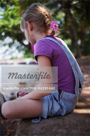 Girl Sitting near Water Stock Photo - Rights-Managed, Image code: 700-06190660