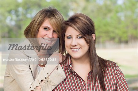 Portrait of Mother and Teenage Daughter Stock Photo - Rights-Managed, Image code: 700-06282088