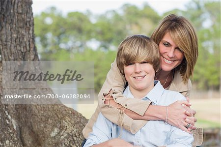 Portrait of Mother and Son Outdoors Stock Photo - Rights-Managed, Image code: 700-06282094
