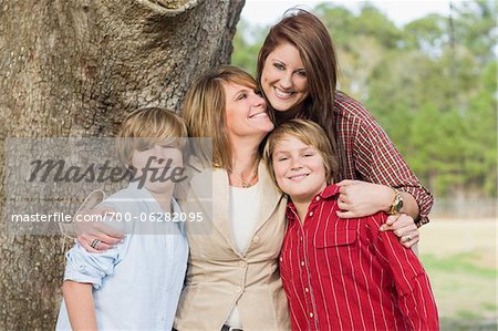 Portrait of Mother with Children Stock Photo - Rights-Managed, Image code: 700-06282095