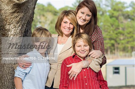 Portrait of Mother with Children Stock Photo - Rights-Managed, Image code: 700-06282096