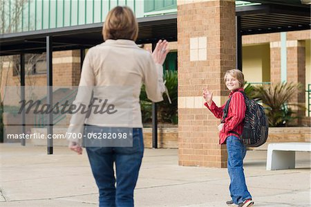 Mother Taking Son to School Stock Photo - Rights-Managed, Image code: 700-06282098