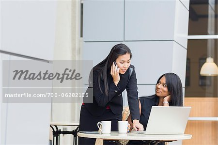Businesswomen at Cafe Stock Photo - Rights-Managed, Image code: 700-06282105