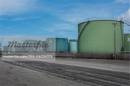 Industrial Fuel Storage Tanks, Le Havre, France Stock Photo - Rights-Managed, Image code: 700-06334376