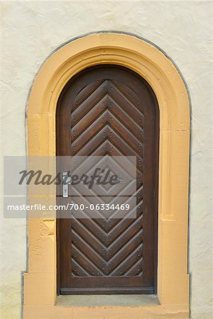 Close-Up of Monastery Door, Maria Bildhausen, Munnerstadt, Bavaria, Germany Stock Photo - Rights-Managed, Image code: 700-06334469