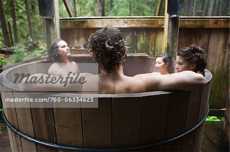 Group of People in Outdoor Hot Tub Stock Photo - Rights-Managed, Image code: 700-06334623