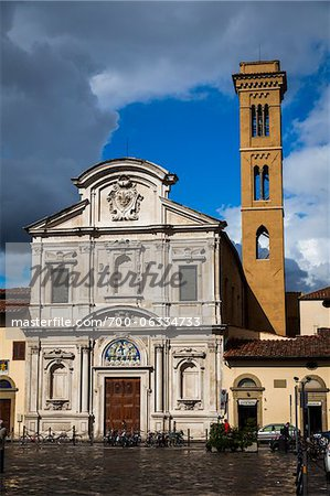 Chiesa di San Salvatore a Ognissanti, Florence, Tuscany, Italy Stock Photo - Rights-Managed, Image code: 700-06334733