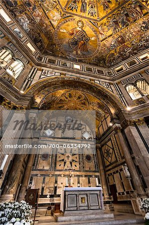 Interior of Baptistery Basilica di Santa Maria del Fiore, Florence, Tuscany, Italy Stock Photo - Rights-Managed, Image code: 700-06334792