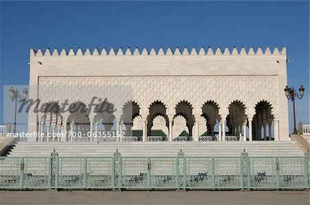 Mausoleum of Mohammed V, Rabat, Morocco Stock Photo - Rights-Managed, Image code: 700-06355152