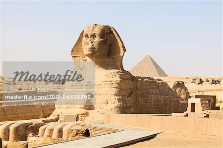 Great Sphinx and Pyramid of Menkaure, Giza, Egypt Stock Photo - Rights-Managed, Image code: 700-06355293