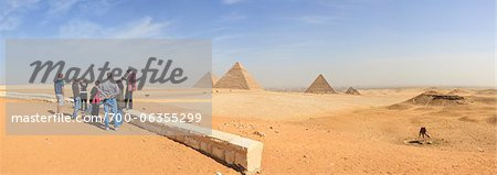 Tourist Group at Observation Point Overlooking Pyramids at Giza, Egypt Stock Photo - Rights-Managed, Image code: 700-06355299
