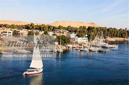 Felucca near Elephantine Island on River Nile, Aswan, Egypt Stock Photo - Rights-Managed, Image code: 700-06355315