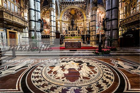 Interior of Siena Cathedral, Siena, Tuscany, Italy Stock Photo - Rights-Managed, Image code: 700-06367760