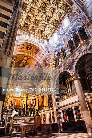 Interior of Apse, Santa Maria Assunta, Pisa, Tuscany, Italy Stock Photo - Rights-Managed, Image code: 700-06367821