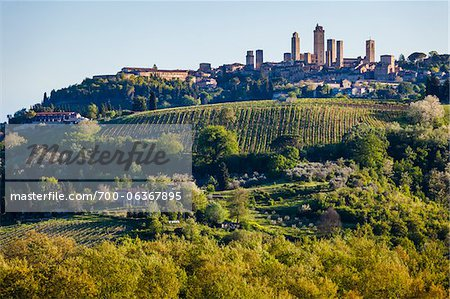 San Gimignano, Siena Province, Tuscany, Italy Stock Photo - Rights-Managed, Image code: 700-06367895