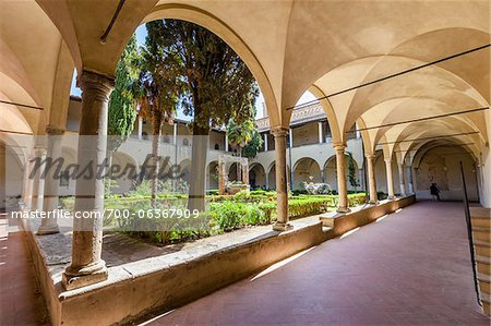 Cloister of Sant'Agostino Church, San Gimignano, Siena Province, Tuscany, Italy Stock Photo - Rights-Managed, Image code: 700-06367909